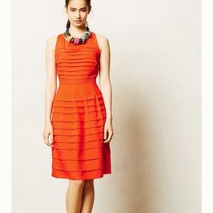 Anthro | Eva Franco Tangelo Ruffle Dress